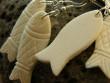 Kostěné náušnice různé tvary