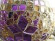 Svícen mozaiková koule s hvězdičkou
