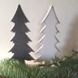 Malý dřevěný stromek bílý