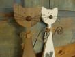 Dřevěná kočička bílá