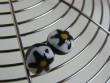 Náušnice skleněné kytičky