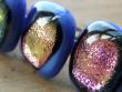 Skleněné prsteny velké - fialový mix - Fialová v modré