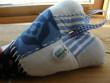 Látkové srdíčko modré