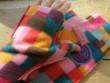 Návleky na ruce kostičky růžové