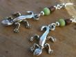Veselé kovové náušnice - Malé ještěřičky