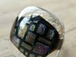 Skleněné prsteny velké - fialový mix - Průhledná mosaika