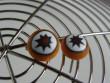 Náušnice skleněné kytičky - hvězdička v oranžové