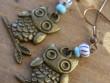 Veselé kovové náušnice - Paní sova
