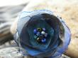 Prstýnek něžný kvítek - tmavě modrý s šedou