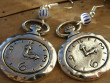 Veselé kovové náušnice - Tik ťak hodiny