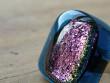 Skleněné prsteny velké - fialový mix - Fialový obdélník