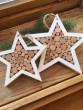 Dřevěná špalíčková hvězda malá