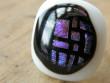 Skleněné prsteny velké - fialový mix - Velká mosaika na bílém
