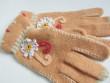 Dámské rukavice světlý oranž