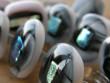 Skleněné prsteny velké - šedorůžový mix