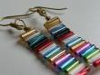 Náušnice z drátků a tyček - multicolor dlouhé 3cm