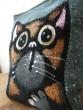 Kočičí mini polštářek šedý