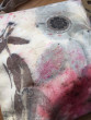 Malá látková taštička ecoprint růžová