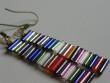 Náušnice z drátků a tyček - multicolor dlouhé 4cm