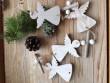 Závěs s andělíčky bílý
