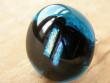 Skleněné prsteny velké - modrý mix - Dva proužky