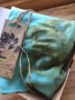 Šátek ecoprint tyrkys