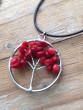 Náhrdelník strom života - červený