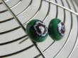 Náušnice skleněné kytičky - hnědé kvítky v zelené