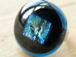 Skleněné prsteny velké - modrý mix - Tmavý