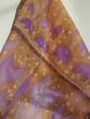 Hedvábný šátek ocůny a tulipány