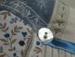 Levandulový mini polštářek - bílá, bledě modrá