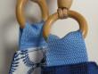 Kabela s dřevěnými uchy modrá