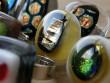 Skleněné prsteny velké - hnědozlatý mix
