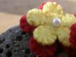 Náušnice vlněné kytičky