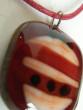Náhrdelník fusing malý červený
