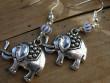 Veselé kovové náušnice - Slon pro štěstí