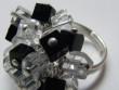 """ketlovaný prsten """"černobílé kostky"""""""