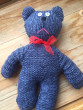 Pletený medvěd modrý