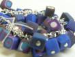 Náramky z fimo kostiček - modro,hnědo,růžovo,bílá