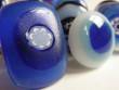 Skleněné prsteny větší - modré
