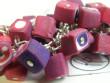 Náramky z fimo kostiček - růžová fuksie s leskem