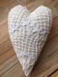 Krajkové srdce s levandulí režné