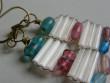 Náušnice z drátků a tyček - něžné dlouhé 2,5cm