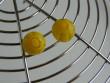 Náušnice skleněné kytičky - žlutý kvítek