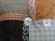 Levandulový mini polštářek - oranž, černá, béžová