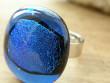 Skleněné prsteny velké - modrý mix - Třpitivé jezírko
