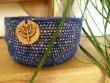 Háčkovaný košíček modrý