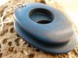 Kostěné náušnice oválky - modrá tyrkysová