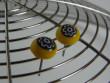 Náušnice skleněné kytičky - kytička ve žluté