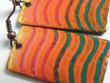 Náušnice smaltované velké - oranžové obdélníky